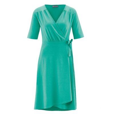 Robe femme cache coeur en jersey verte émeraude