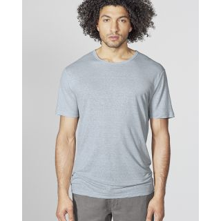 Tee-shirt jersey homme uni col rond manches courtes chanvre