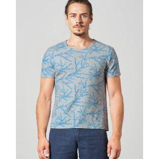 Tee-shirt homme corail chanvre et coton bio