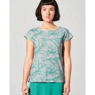 Tee-shirt femme manches courtes imprimé corail