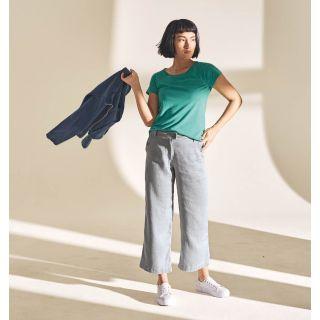 Tee-shirt uni femme manches raglan hempage