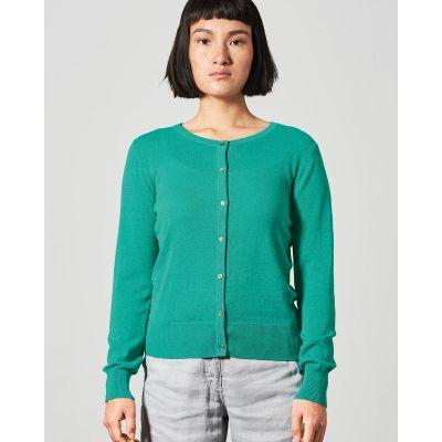 Cardigan, gilet, slim, tricot, chanvre et coton bio
