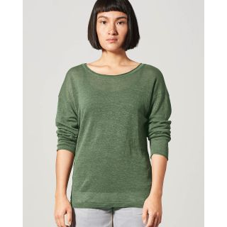 Pull léger femme 100% chanvre naturel tissu tricoté