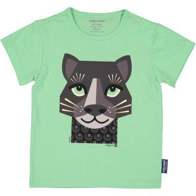 T-shirt enfant jaguar couleur vert coton bio et écoresponsable recto