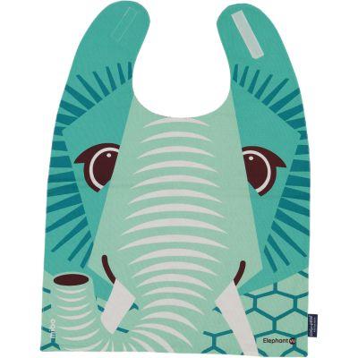Bavoir enfant grand format imprimé éléphant recto