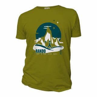 Tee-shirt Rando homme vert mousse