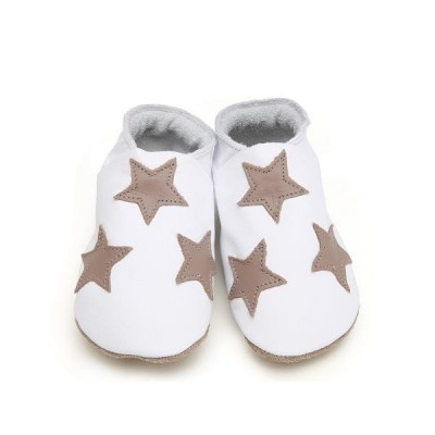 Chaussons Starchild Stars in white and taupe