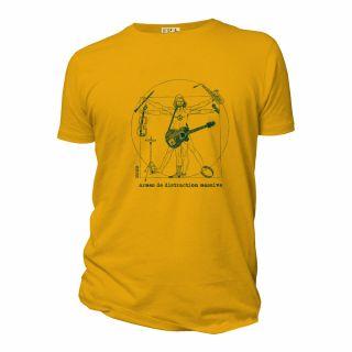 Tee shirt homme organic armes de distraction massive bleu ciel