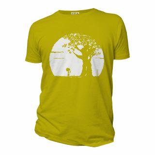 Tee-shirt homme coton bio Pousse jaune anis