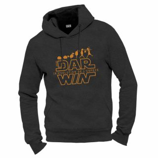 Sweat capuche anthracite chiné homme coton biologique Dar win coton bio