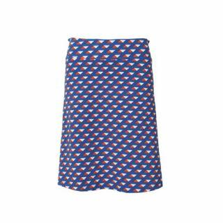 Jupes longues Coton bio imprimés géométriques triangles bleu et rouge