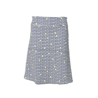 Jupes longues Coton bio imprimés géométriques triangles bleu