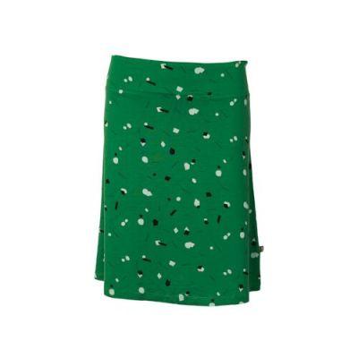 Jupe verte longues Tencel imprimés géométriques