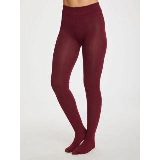 Collants en bambou bordeaux Bilberry