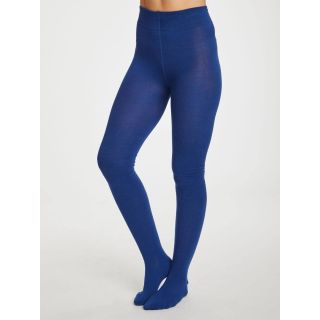Collants en bambou bleu saphir blue
