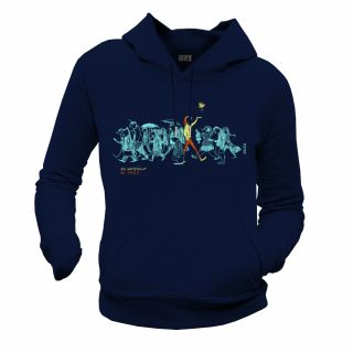 "Sweat capuche femme coton biologique ""Be different, Be free"" bleu marine"