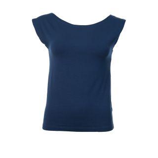 Haut bleu marine femme sans manche, composition Tencel