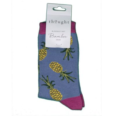 Chaussettes femme bambou couleur ananas