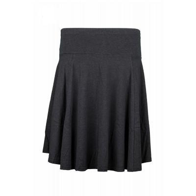 Jupe Bio Kora noir en chanvre et coton bio