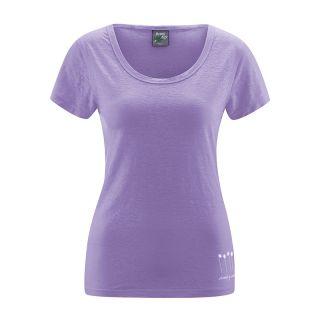 Tee-shirt femme 100% chanvre manches courtes couleur lilas