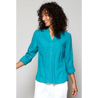 Chemise femme coton bio détail plissé