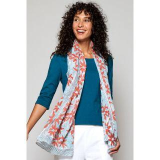 Grand foulard léger et imprimé