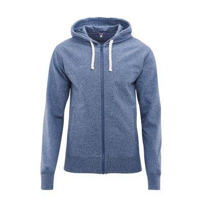 Veste à capuche légère 100% coton bio bleu