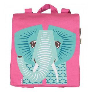 Sac à dos écologique pour la maternelle rose avec imprimé éléphant