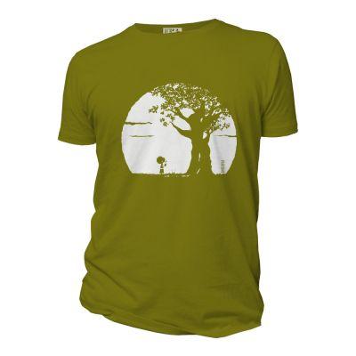 Tee-shirt coton bio Pousse vert mousse