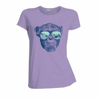 T-shirt éthique femme en coton bio lavande Homo Eradicus
