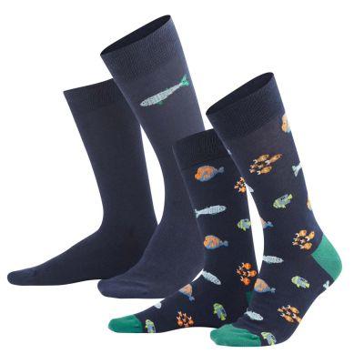 Lot de 2 paires de chaussettes en coton bio aqua