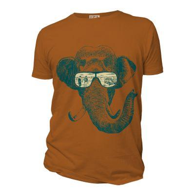 Tee-shirt ambre en coton bio homme Mémoire d'éléphant