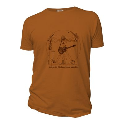Tee shirt organic armes de distraction massive couleur ambre