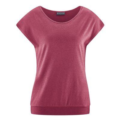Tee shirt yoga coton bio et chanvre rouge tinto