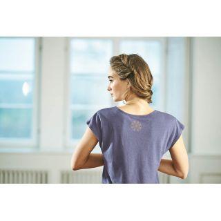 Tee shirt femme, imprimé mandala au dos
