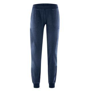 Pantalon jogging coton bio et chanvre bleu marine