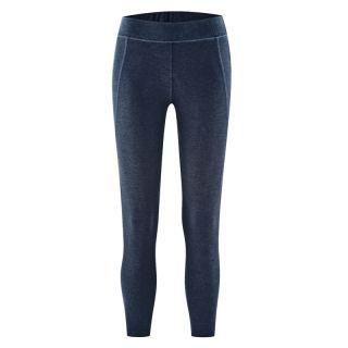Pantalon leggings bleu marine pour le yoga coton bio et chanvre