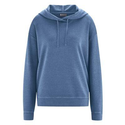 Sweat à capuche femme coton bio chanvre bleu