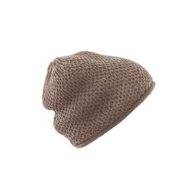 Bonnet femme coton bio chanvre Selina marron