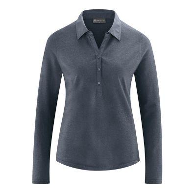 Chemisier en jersey chanvre et coton biologique gris anthracite