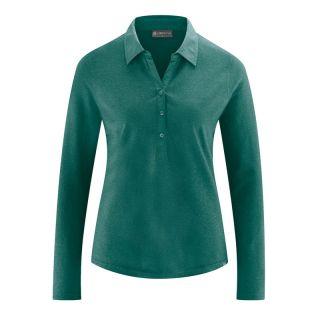 Chemisier en jersey chanvre et coton biologique vert spruc