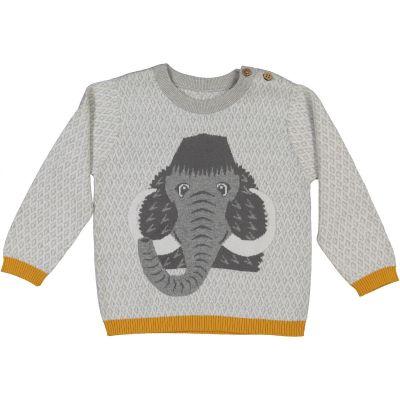 Pull enfant en coton bio et laine Mammouth
