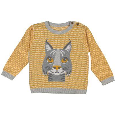 Pull enfant coton bio et laine Lynx