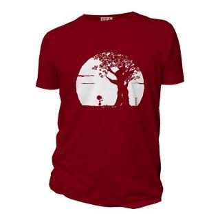 Tee-shirt homme burgundy coton bio Pousse