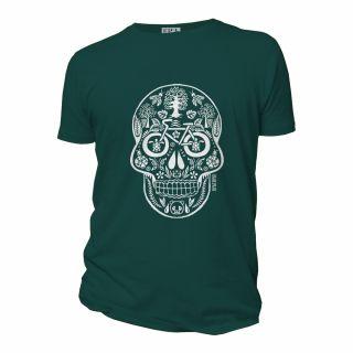 Tee shirt vert émail coton bio modèle Tête de Vie