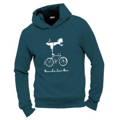 Sweat coton bio bleu vélo