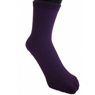 Chaussettes bio enfants violet