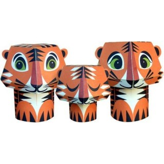 Paper toys - the Tiger trio