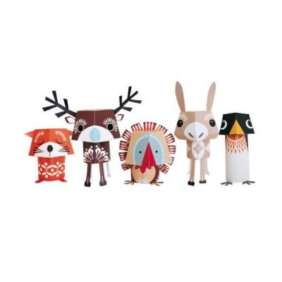 Paper toys - Festive friends