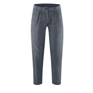 Pantalon chino femme chanvre et coton bio couleur gris foncé